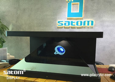 """32"""" High Tech 3D Hologram Display Stereo Sound Combined Holographic Showcase"""