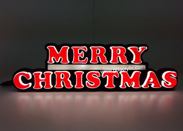 Indoor / Outdoor LED Christmas Neon Sign For Countertop / Wall mounted