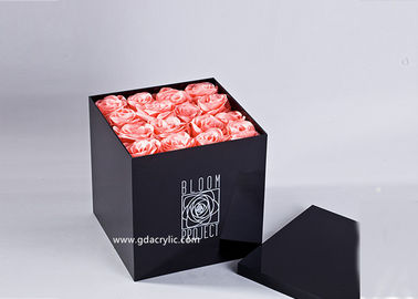 16 Roses Gloss Black Flower Box Acrylic Packing Not Flower Hat Box