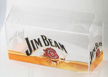 Acrylic Logo Custom Beer Led Lighting Ice Cube Bucket with Handle