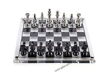 Factory Direct Price Transparent Lucite Acrylic Chess Set