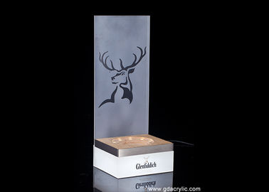 Glenfiddich Whisky Plint Metal Bottle Glorifier Wood Base For Single Or Multiple