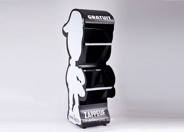 Creative Removable Metal Free Stand Newspaper Humanoid Display Stand
