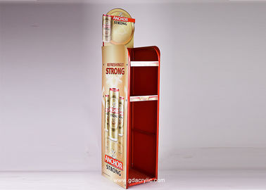 Larg Advertising Storage Metal Beer Display Promotion Showcase Stand