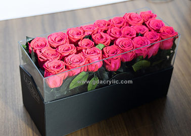 Hot Sale New Black Luxury PU Leather Flower Storage Display Cutom Acrylic Boxes