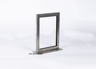 China A5 Square Table Counter Top Metal Stainless Steel Menu Sign Display Holder factory