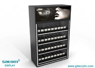 Acrylic Cigarette Display Cabinet , Cigarette Advertising Poster Can Be Replaced